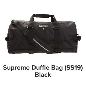 AUTHENTIC Supreme Duffle Bag ( SS19 ) ( Black )